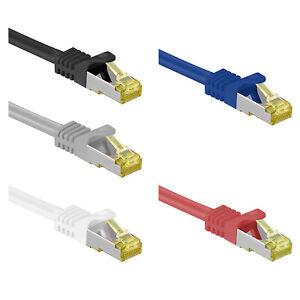 RJ45 Patchkabel mit CAT 7 Rohkabel LAN DSL Netzwerkkabel S/FTP PIMF  0,25m - 30m