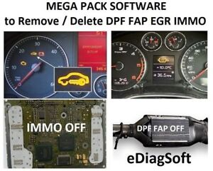 Details about PACK 6 Software to REMOVE DPF , DELETE DPF, MAKE DPF OFF, FAP  OFF, EGR OFF