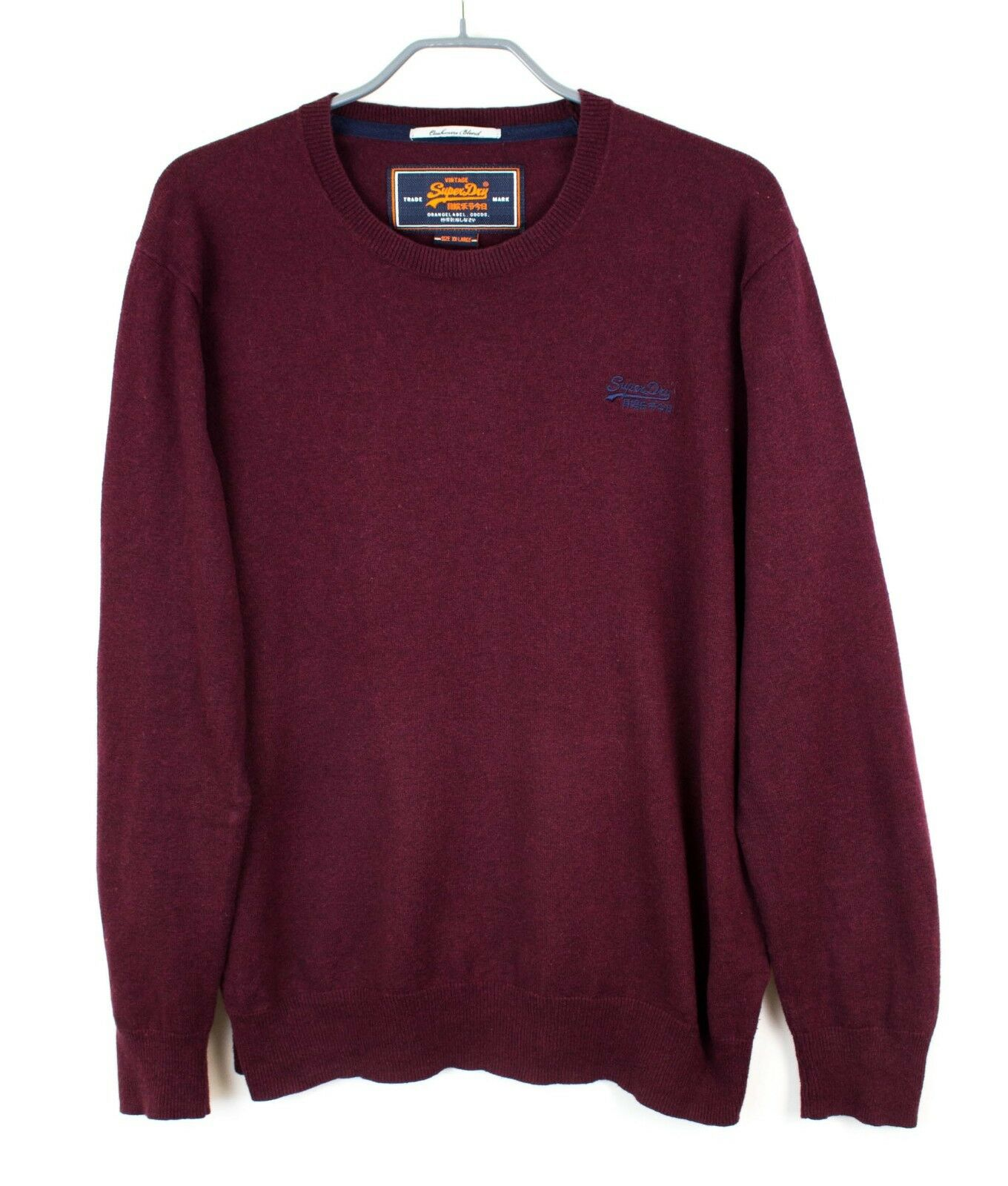 Superdry Hombre Jersey Cachemira Mezcla Vintage Jersey Suéter XL Ez653