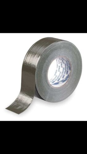 """2 new 3M Heavy-Duty Duct Tape Roll 6969 Olive 48mm x 54.8m 10.7mil 1.88/"""" x 60Yd"""