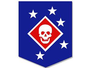 3x4 inch Blue MARSOC RAIDERS Skull and Stars Seal Sticker ...