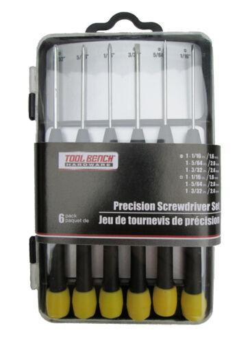 6pc Precision Screwdriver Set w// Storage Case Premium Phillips /& Slotted Drivers