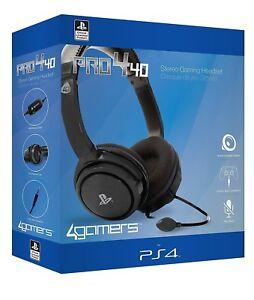 Oficial PRO4-40 Stereo Gaming Headset Chat con Micrófono Negro Para...