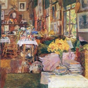 The-room-of-flowers-by-Childe-Hassam-Giclee-Fine-Art-Print-Repro-on-Canvas