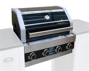 einbaugrill gasgrill 4 edelstahl brenner gas grill garten einbau kansas ebay. Black Bedroom Furniture Sets. Home Design Ideas