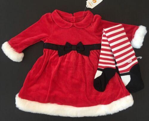 Gymboree Girls Santa Dress /& Mary Jane Stocking Set 6 12 18 24 Months $47.90