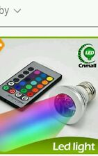 E27 3W RGB Multicolor LED 16 Color Changing Lamp Light Bulb + IR Remote Control