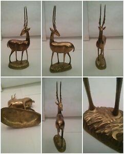 Grande-de-Laton-Impala-Ibex-Estatua-Estatuilla-de-Animal-Africa