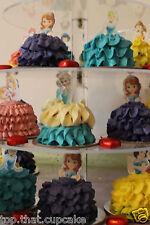 Disney Princess half body EDIBLE wafer Cupcake Toppers cake birthday