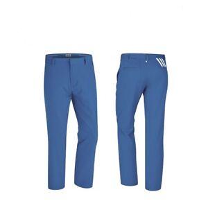 Adidas-Men-039-s-3-Stripe-Stretch-Golf-Trousers-Bah-Blue-White-32-034-34-034-Waist-32-034-Leg