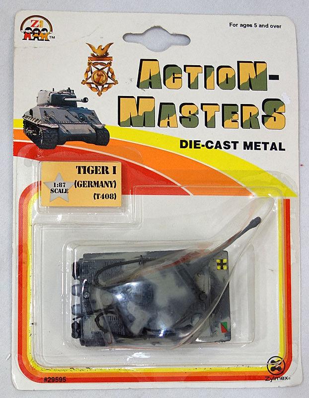 disfrutando de sus compras Vintage 1993 1993 1993 acción Masters 1 87 Diecast Metal Segunda Guerra Mundial Alemania T408 tanque Tiger 1 menta en tarjeta  Envio gratis en todas las ordenes
