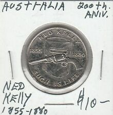 LAM(Z) Token - Australia - 200th Anniversary - Ned Kelly - 1855-1880