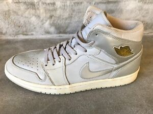 Nike-Air-Jordan-1-Retro-Mid-Silver-MEN-039-S-11-5-Anniversary-18881