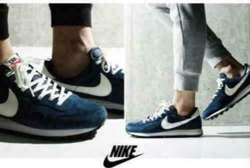 NIKE Air Pegasus 83 PGS Sneakers Suede Navy bluee White Size 25.0cm US7