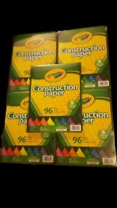 CRAYOLA-9-034-x-12-034-Assorted-Multi-Color-Art-Construction-Paper-Lot-of-5
