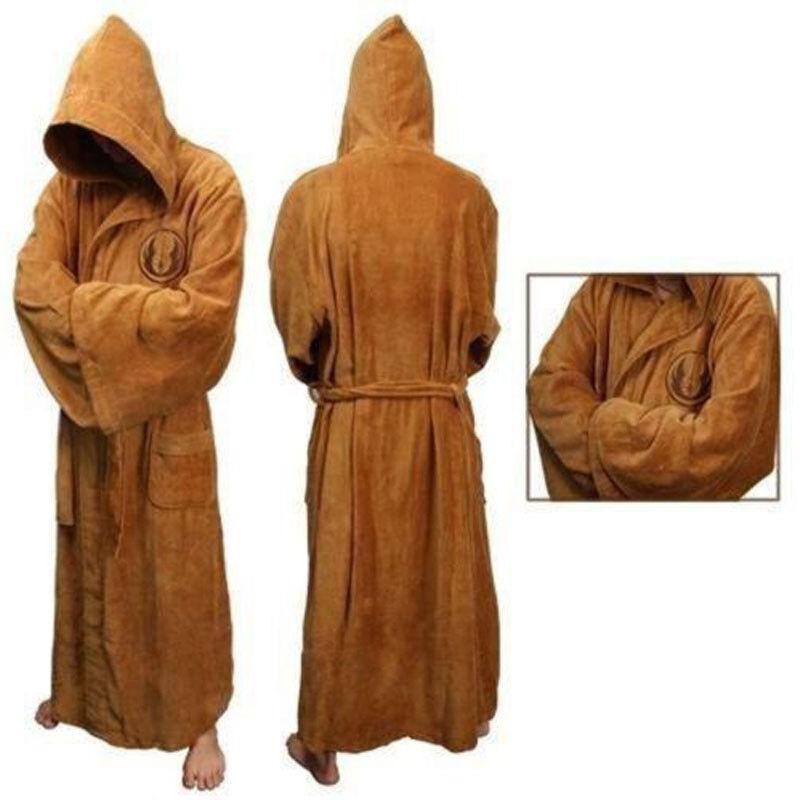 Star Wars Jedi Sith Adult Bathrobe Fleece Hooded Bath Robe Dressing ...