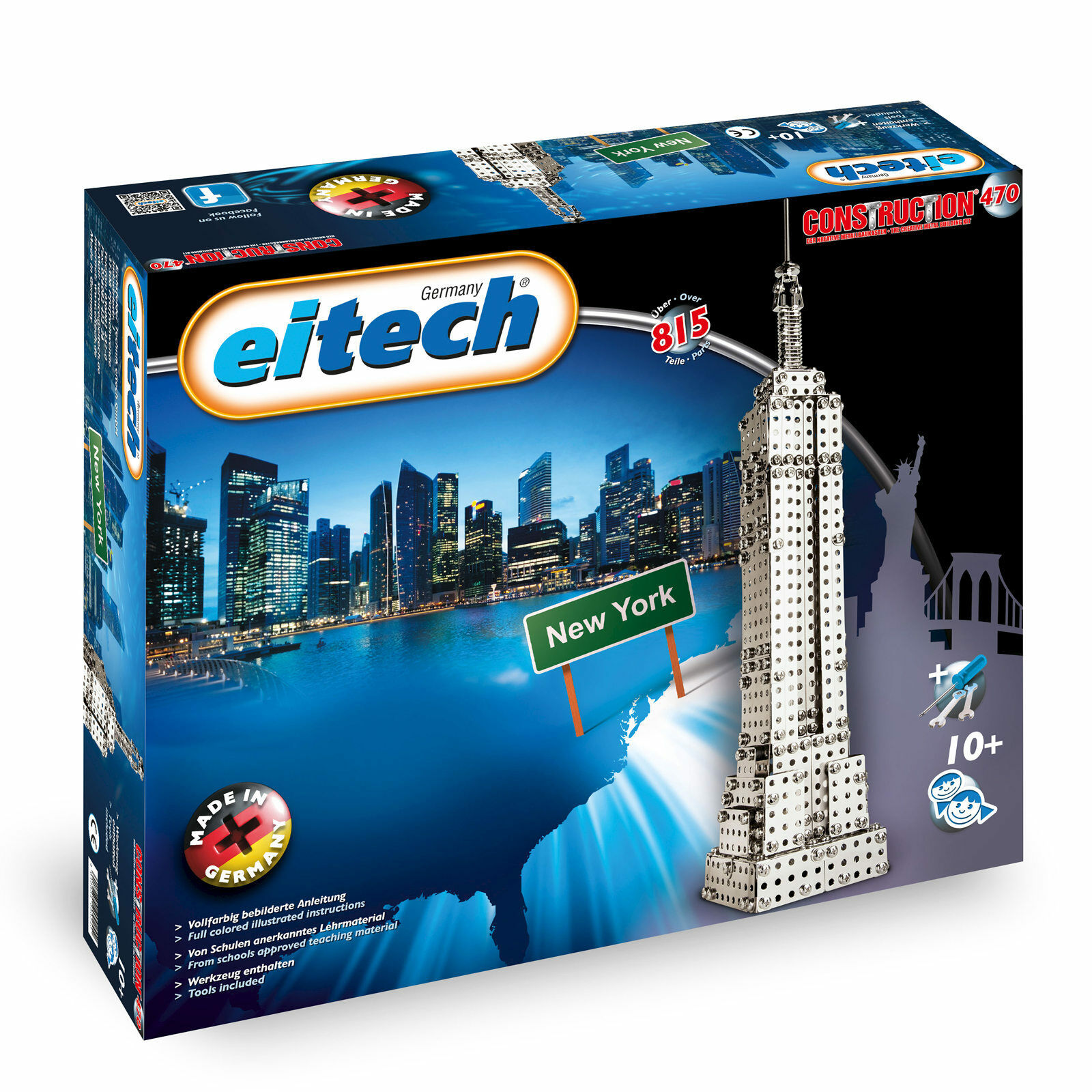 Eitech Metal Construction Sets Empire State Building 19 11 16in High