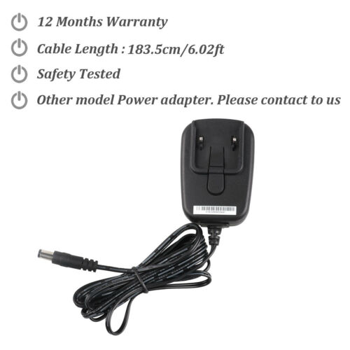 12V Power Supply Adapter Cord For Medela 12V pump in Style Advanced breast pumps