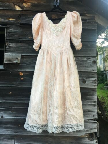 JESSICA MCCLINTOCK WOMENS SIZE 4 FAIRYCORE DRESS … - image 1