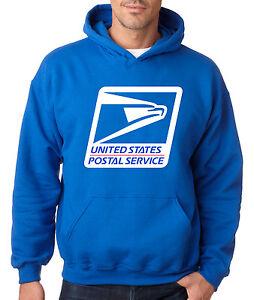 USPS LOGO POSTAL ROYAL BLUE HOODIE Hooded Sweatshirt Chest United States Service