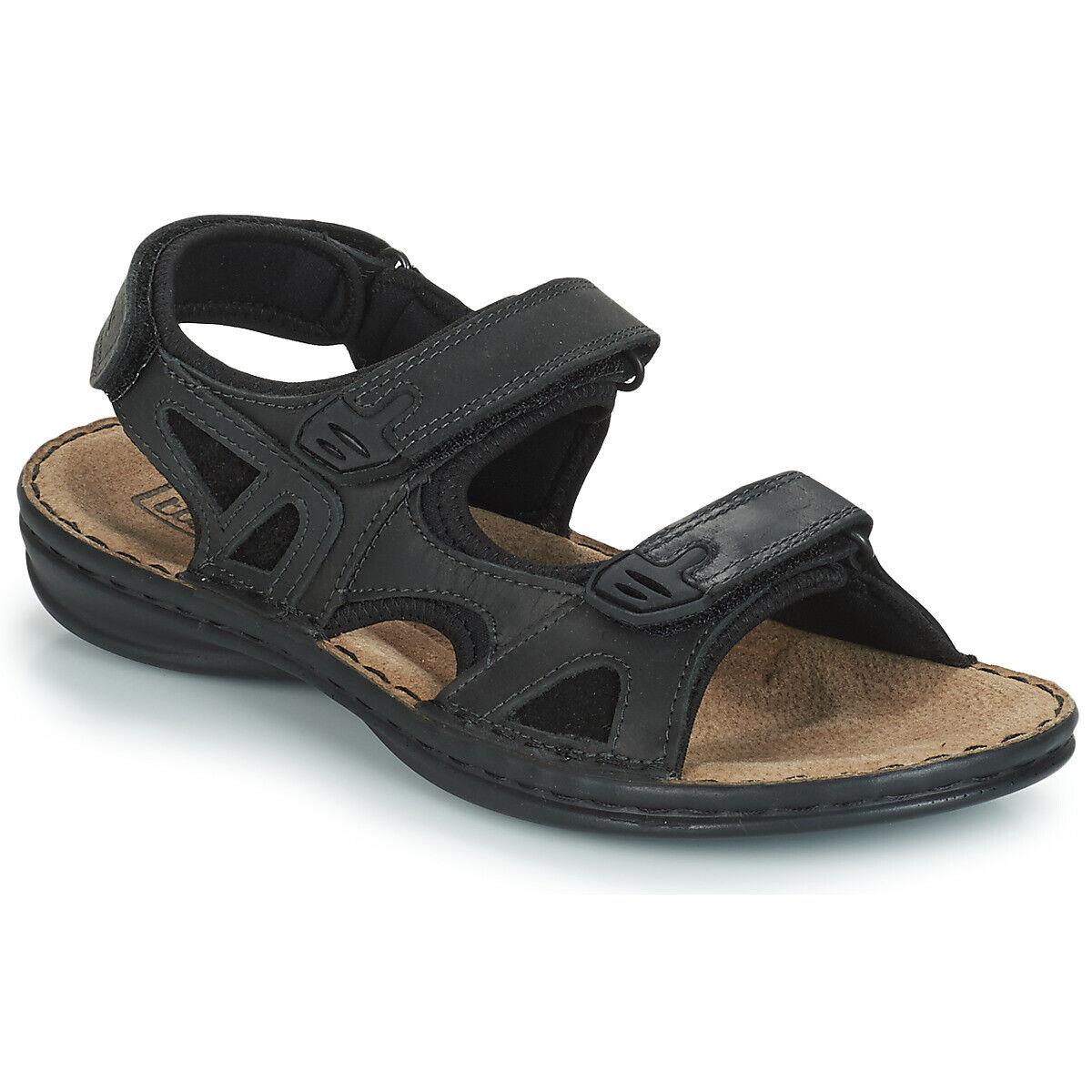 Tbs berric black leather sandal, man.