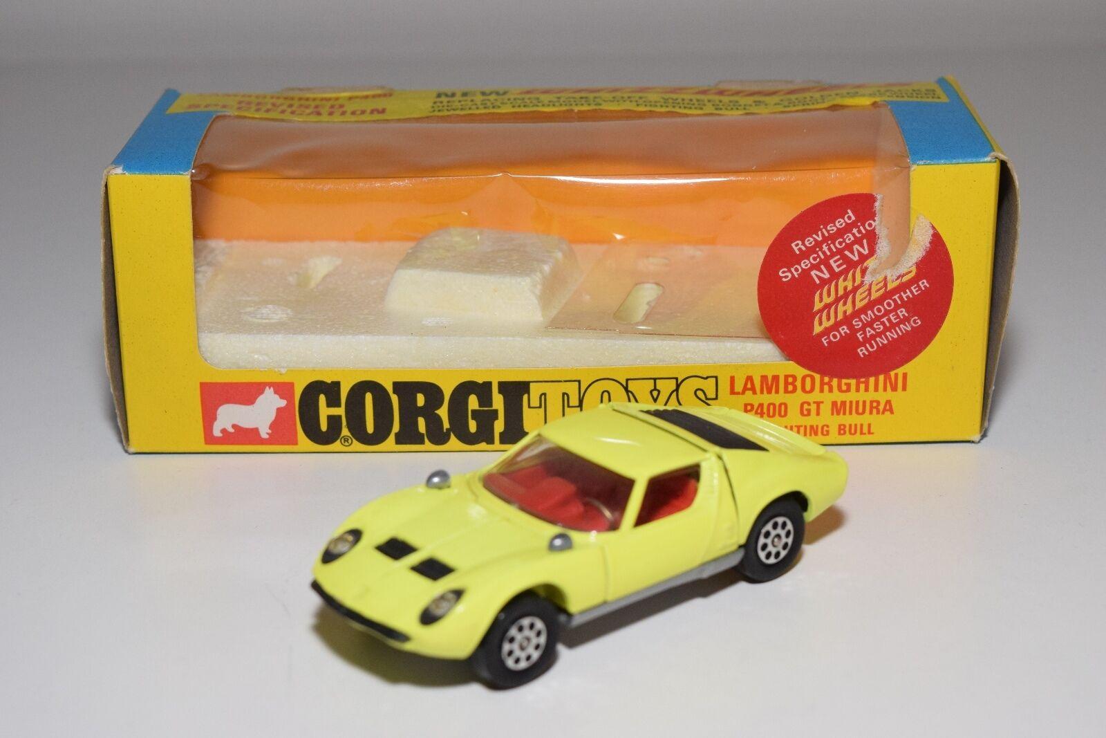\\ CORGI TOYS 342 LAMBORGHINI P400 P 400 GT MIURA giallo MINT BOXED
