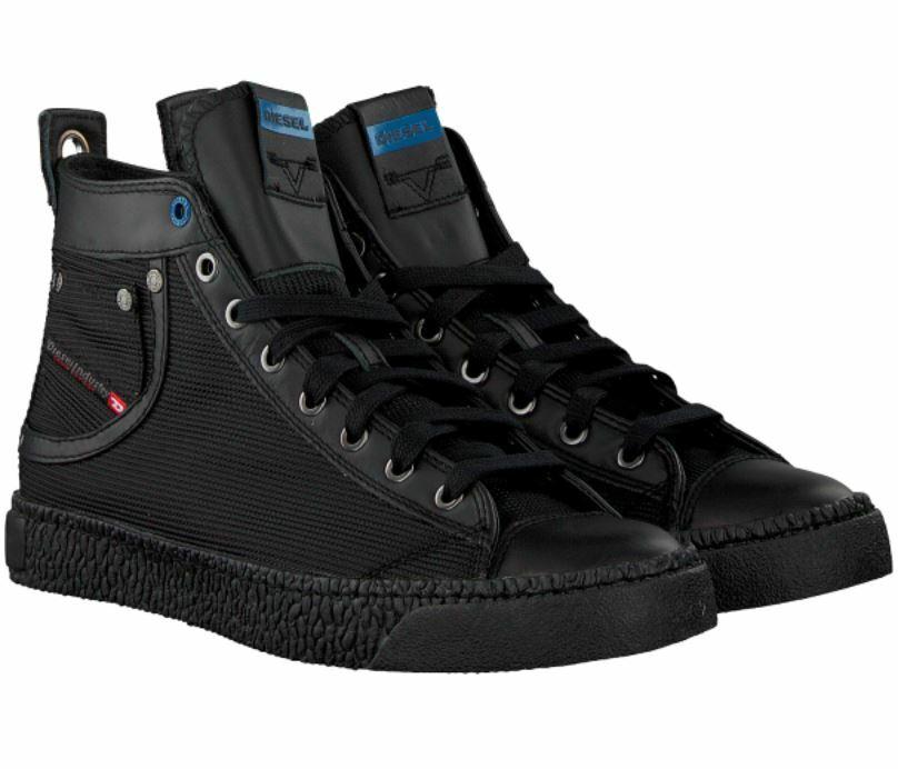 DIESEL Herren Turnschuhe Schuhe Exposure I Mid Top Gr 44 45 46 47 schwarz NEU