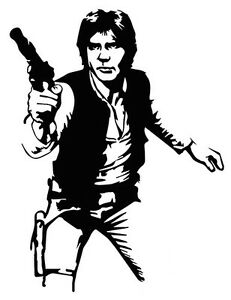 Han solo sticker vinyl decal sci fi star wars empire for Han solo coloring pages