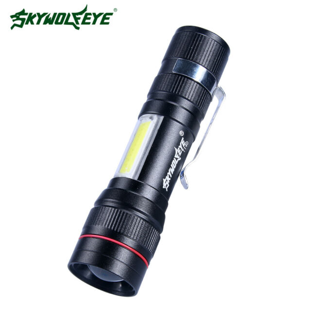 SkyWolfEye Tactical Mini T6 LED Flashlight 30000LM Torch Zoomable Light Lamp k
