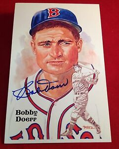 Bobby Doerr Perez-Steele Galleries Hall of Fame Post Card PSA/DNA #W40455