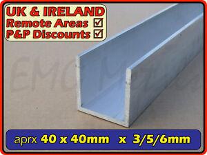 Aluminium Channel║38x38 mm║(C U section, gutter, profile,alloy)
