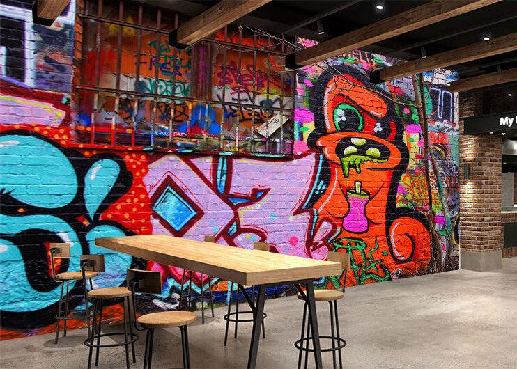 3D Graffiti Cartoon 872 Wallpaper Mural Paper Wall Print Wallpaper Murals UK