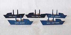 Vintage SHIP OWNER Company Metal Ship MAP Model Navy Magnetic Indicator Radar