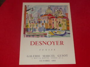 ART-20th-DESNOYER-BEAUTIFUL-POSTER-ORIGINAL-63-LITHOGRAPHY-Venice-Gal-M-GUIOT