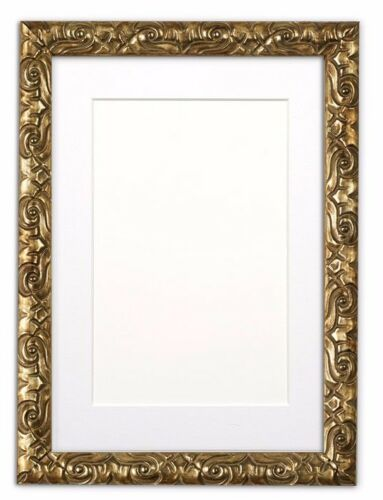 Antique Cushion Ornate Swept Picture Photo Poster Frame With Bespoke Mount  GOLD