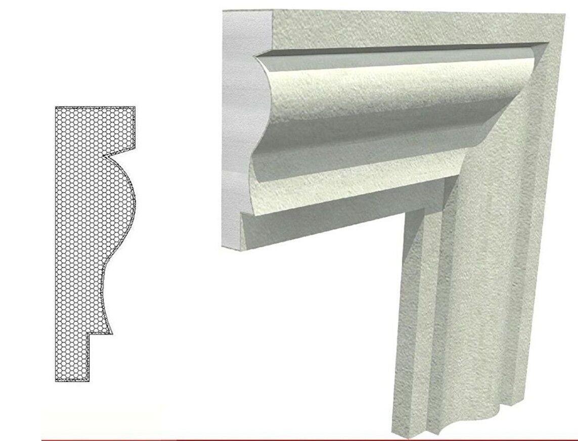 10 marcos marcapiano poliestireno resina recubierto 150 x 46 x 1000 mm Dekor