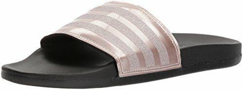 Adidas Femmes Adilette Confort Glissière Sandale, Vapeur Gris Métal / Noir, 10 M