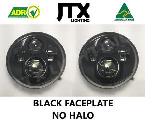 "JTX, 1pr. LED Headlights, 5 3/4"", Black Faceplate, No Halo"