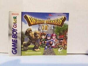 Dragon Warrior 1 And 2 Manual Nintendo Gameboy Color Gbc Game Boy Ebay