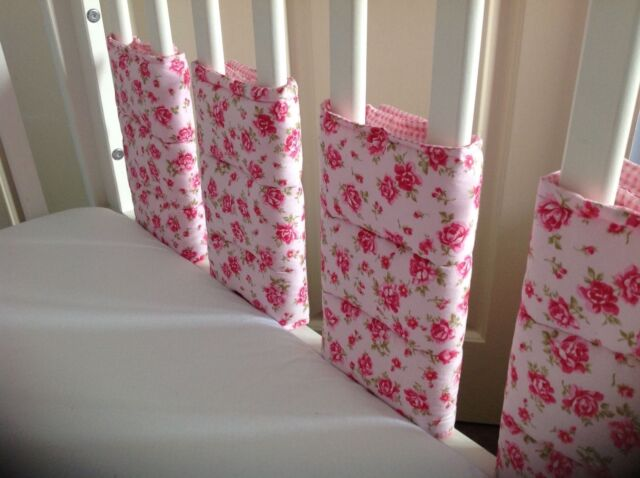 Cushi Cots Filles Rose et Vichy Bar/Pare-chocs Wraps 8 Pack NEUF