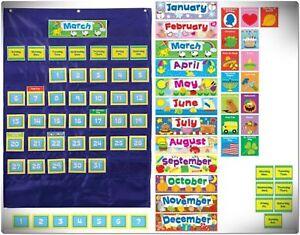 Image Is Loading Custom Calendar Pocket Chart Teacher Clroom English School
