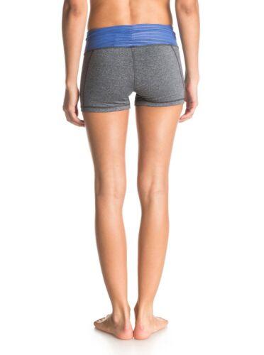 Roxy Fitness Hula Shorts Black Dark and Light Gray  Sz Medium Shorts Pants