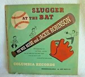 1949-Jackie-Robinson-Pee-Wee-Reese-034-Slugger-the-At-Bat-034-Columbia-Record-Set