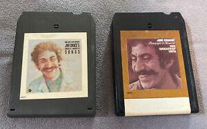 Lot Of 2 Jim Croce 8 Track Tapes - Bad Bad Leroy Brown + Photographs & Memories