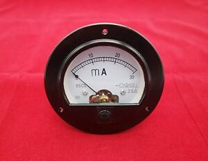 DC 0-30mA Round Analog Ammeter Panel AMP Meter Dia. 90mm directly Connect