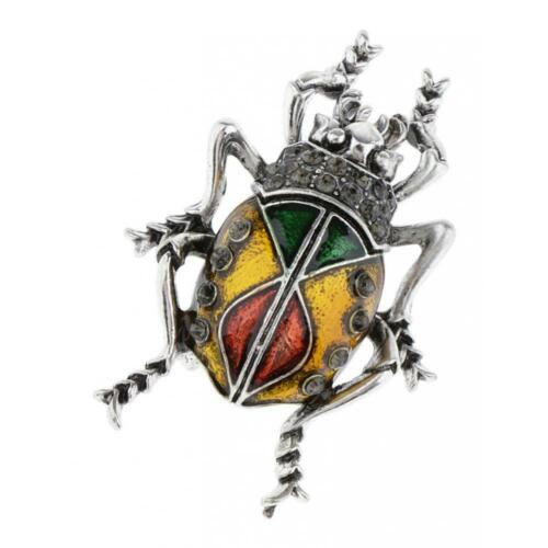 Elegant Insect Brooch Crystal Enamel Metal Lapel Pin Badge Brooches Gifts