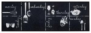 Craie Calendrier Cuisine Tapis De Sol Non-slip Tapis Tapis De Couloir M/lavable 50x150cm-afficher Le Titre D'origine éConomisez 50-70%