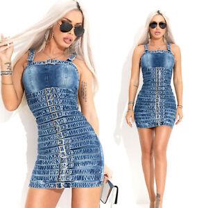 By-Alina-MEXTON-Damenkleid-Partykleid-Jeanskleid-Jeans-Minikleid-34-38-C989