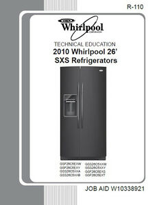 2010 whirlpool 26 sidexside refrigerators service repair manual ebay rh ebay com Whirlpool Refrigerator Model Number Lookup Whirlpool Model Number Search