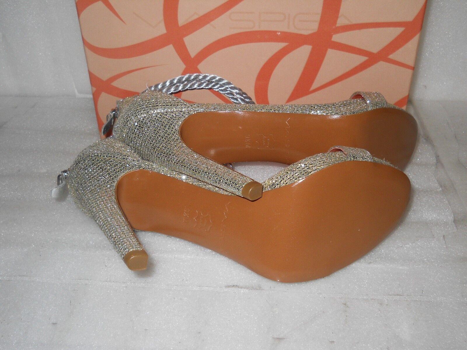 Via Spiga New Damenschuhe Penelope Silver Glitter Heels Heels Glitter 8.5 M Schuhes NWB ce9318